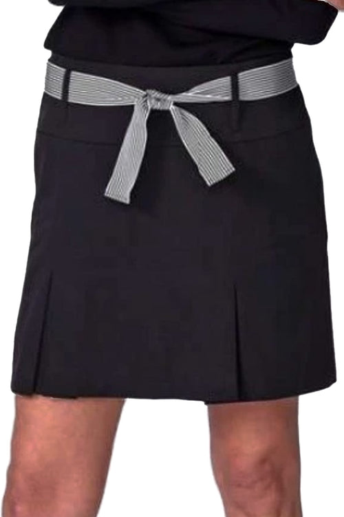 Black Pleat Stretch Performance Skort | Shark Tank