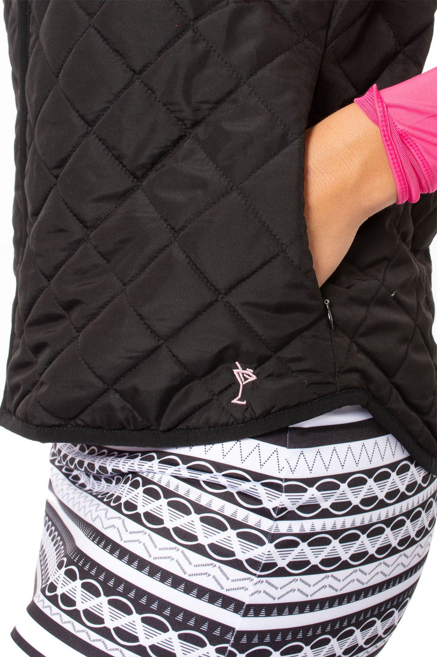 Black & White Reversible Wind Vest