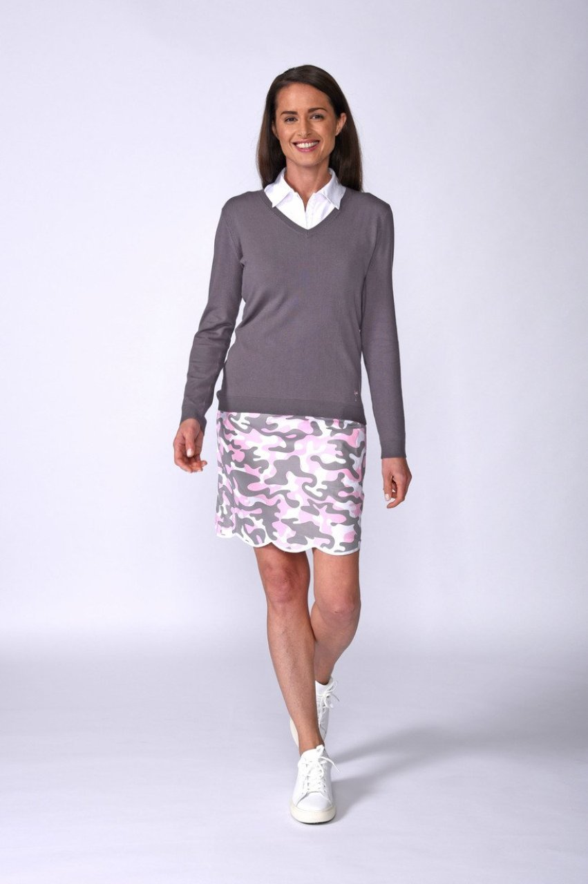 Women's Incognito Camouflage Stretch Cotton Skort (Comes in 2 Lengths)