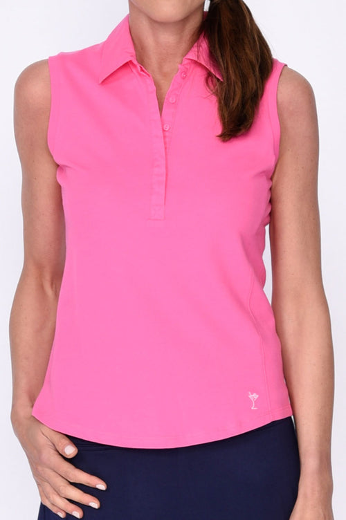 Classic Golftini Polo - Hot Pink