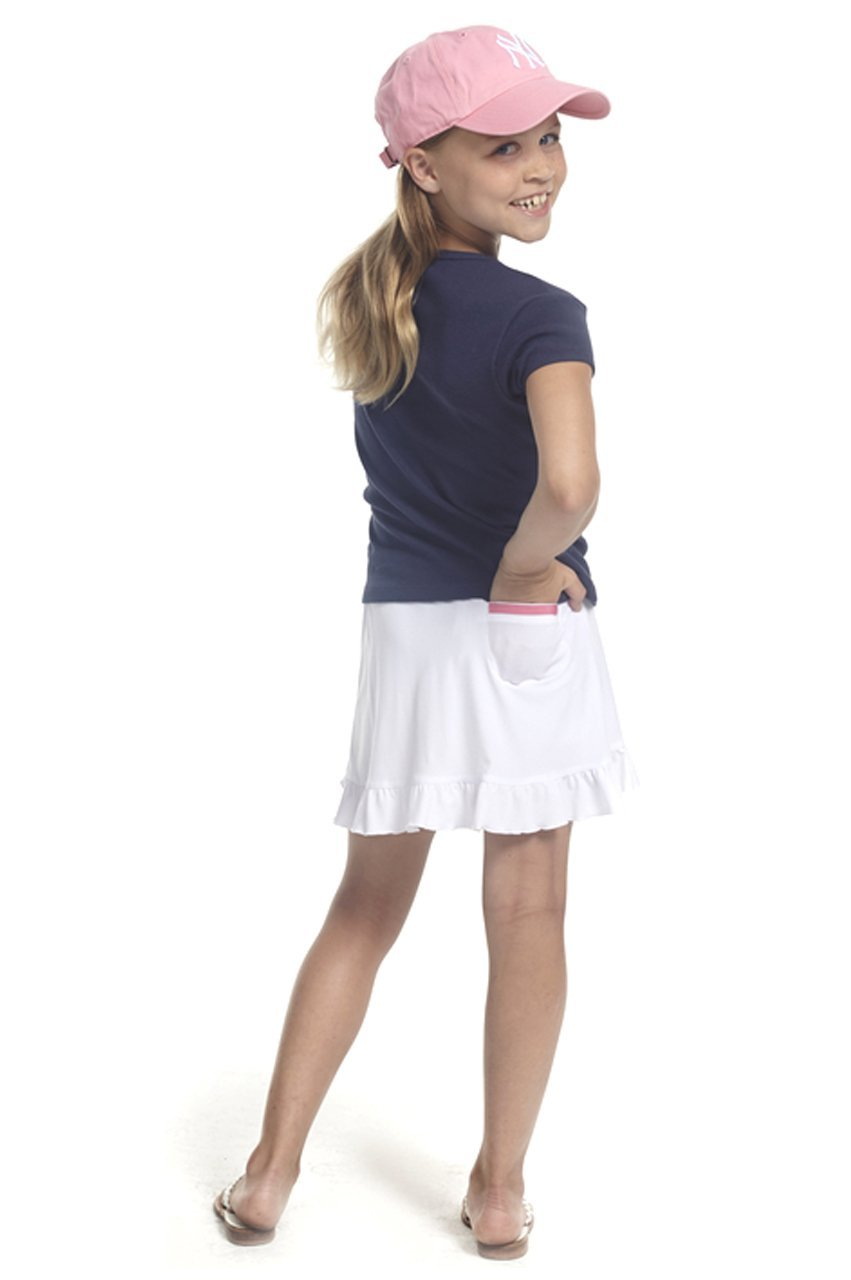 Women's Golftini Girl Pull-On Tech Junior Skort - White