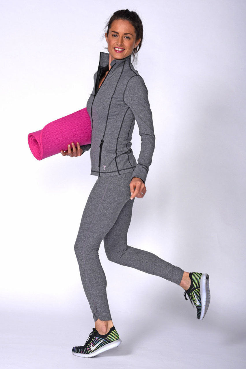 Women's Unexpected Heather Grey Spandex Legging