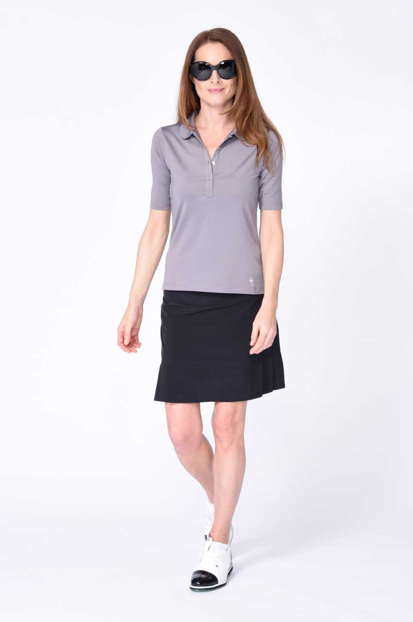 Elbow Fashion Tech Top - Grey