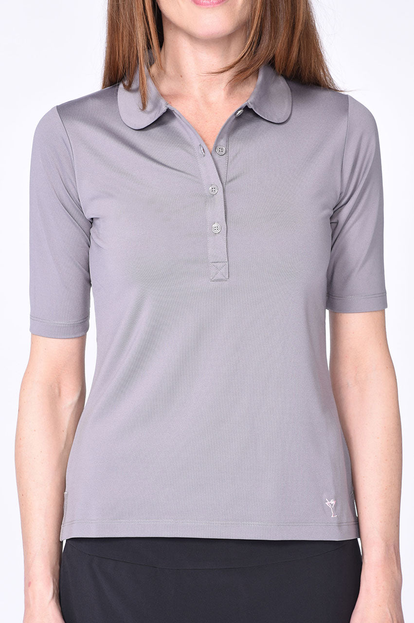 Grey Elbow Fashion Stretch Top