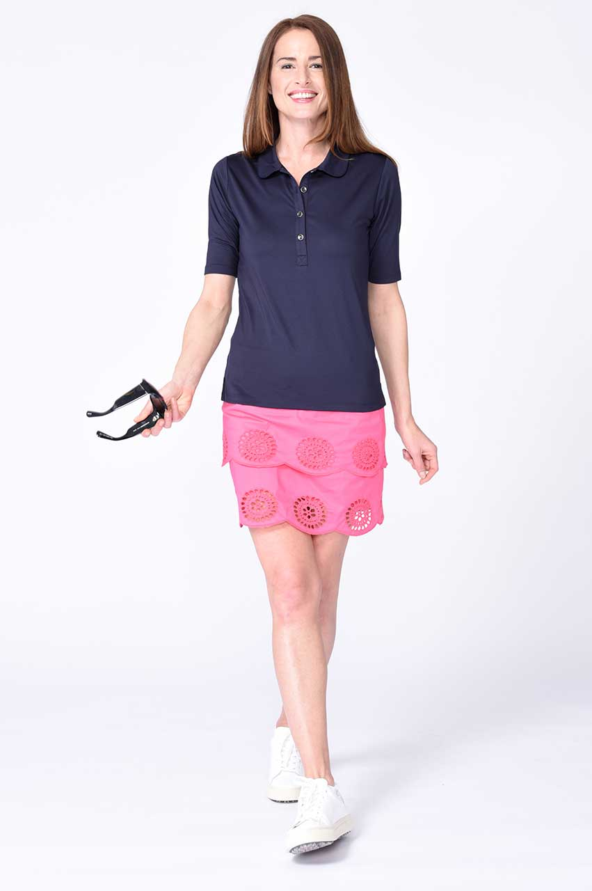 Elbow Fashion Tech Top - Navy