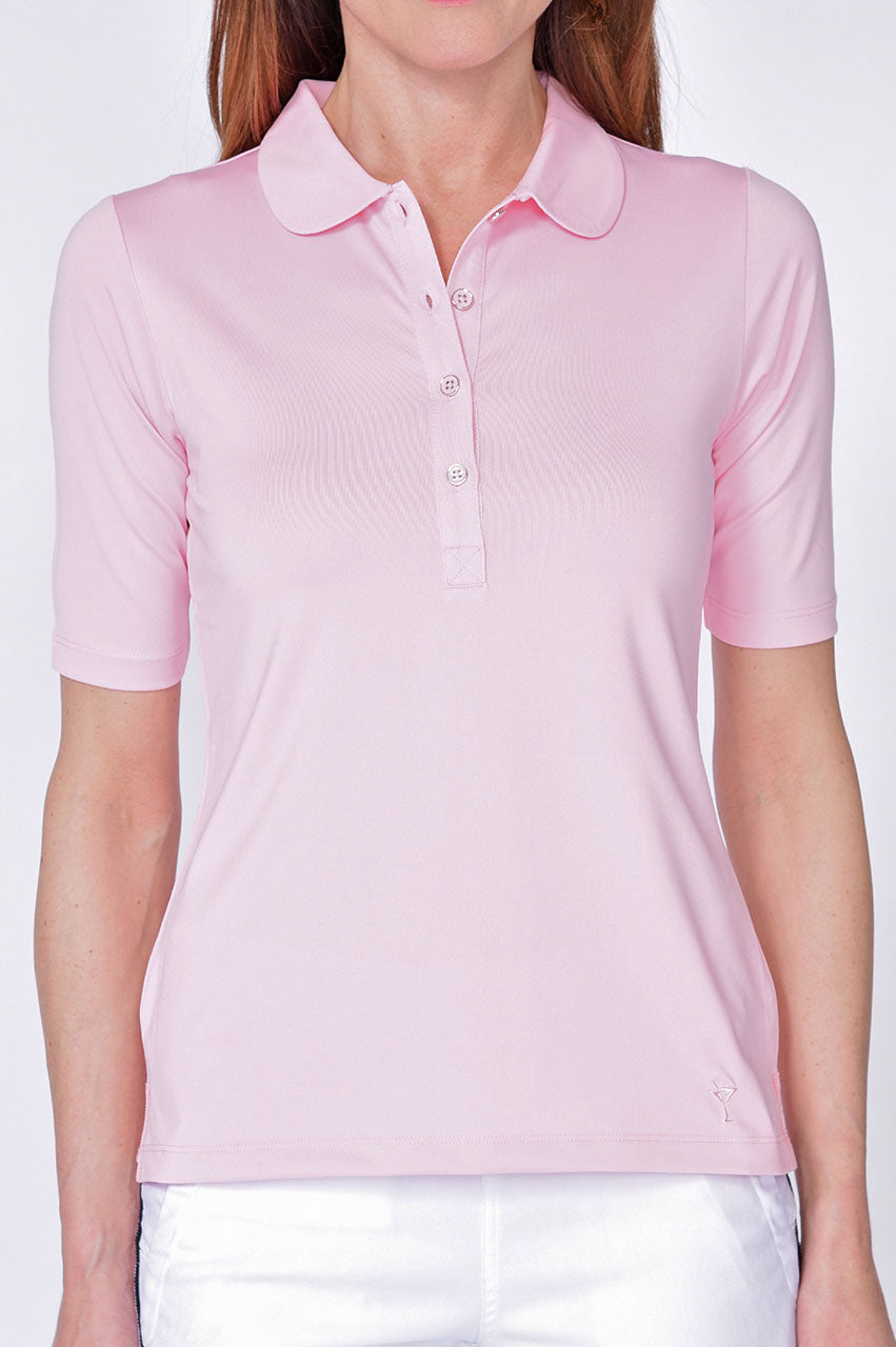Light Pink Elbow Fashion Tech Top