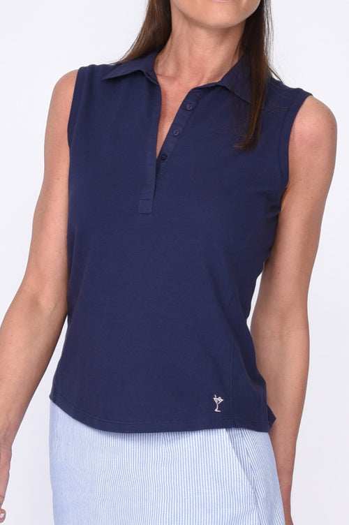 Women's Classic Golftini Polo - Navy