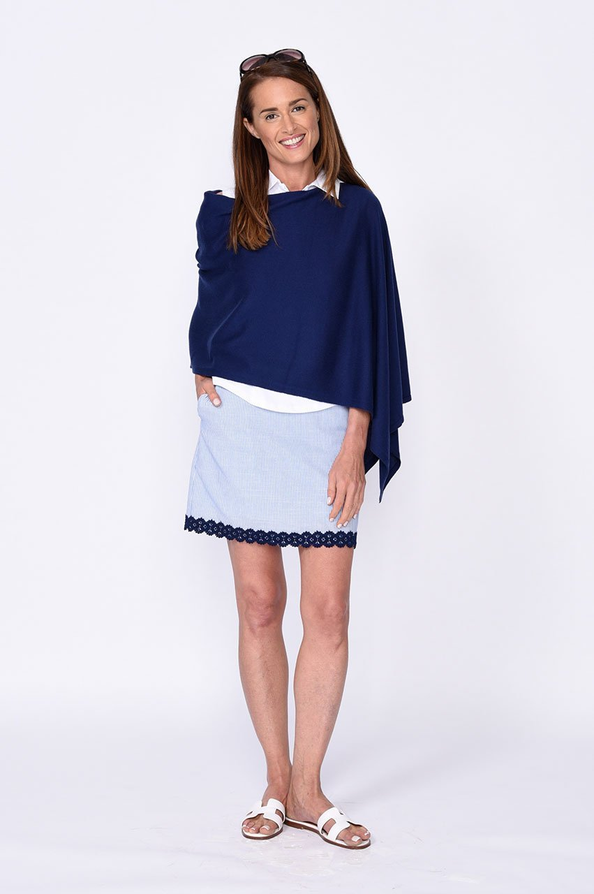 Fashion First Navy Stretch Cotton Skort (Comes in 2 Lengths)