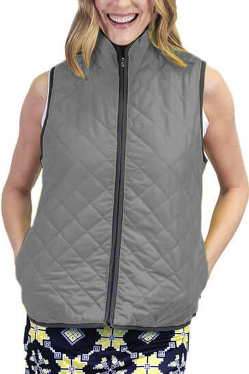 Grey Reversible Wind Vest