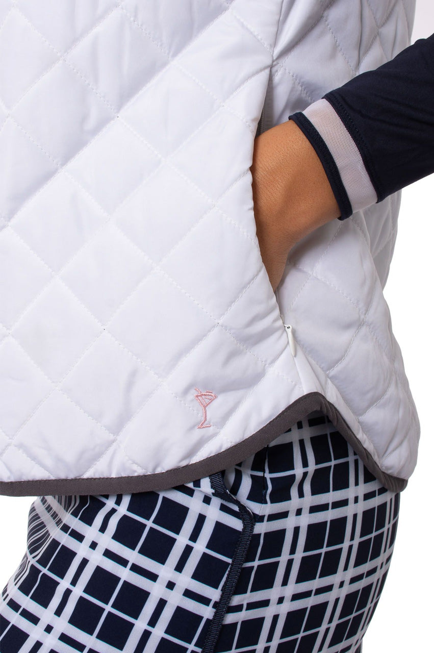 White & Grey Reversible Wind Vest