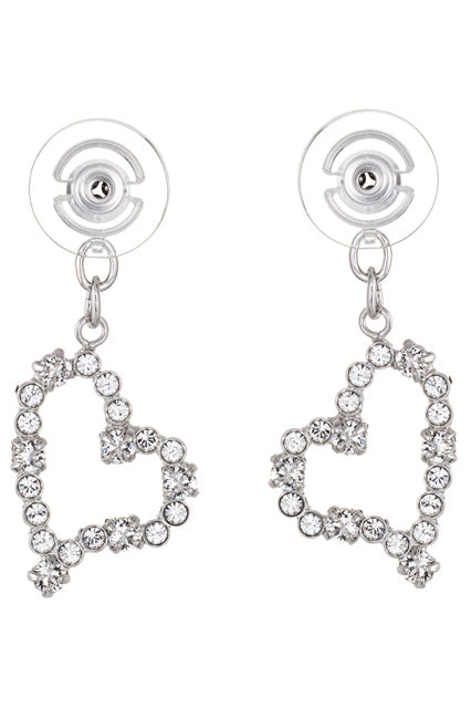 Hearts | Duchess Collection Earring Jackets with Swarovski Crystals