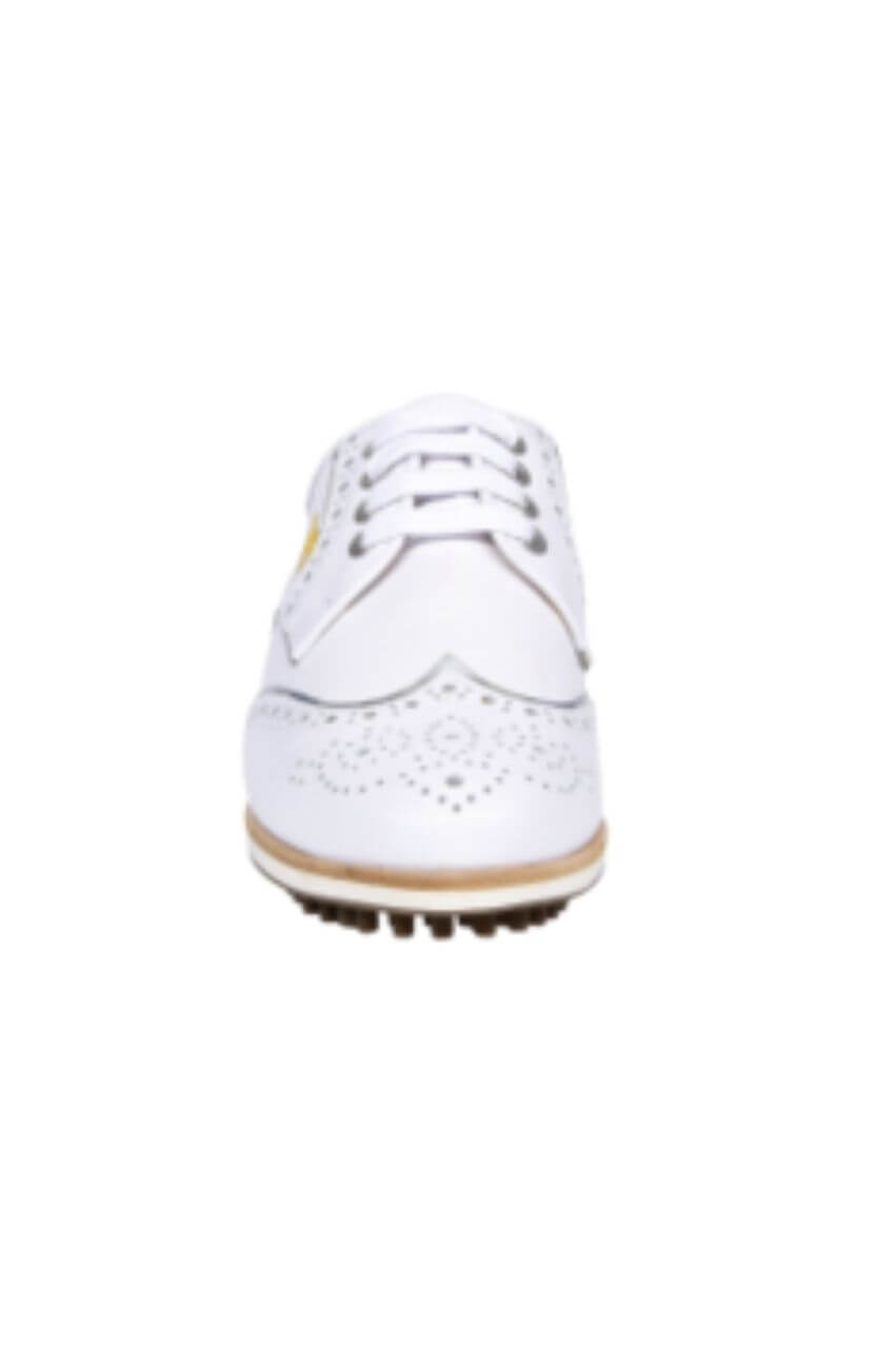 Women's Aerogreen Golf Shoes | Isabella White with Silver Trim
