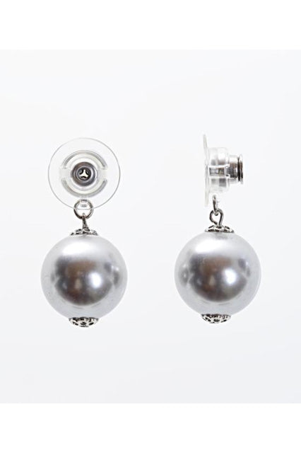 Light Grey | Duchess Collection Earring Jacket with Swarovski Pearls