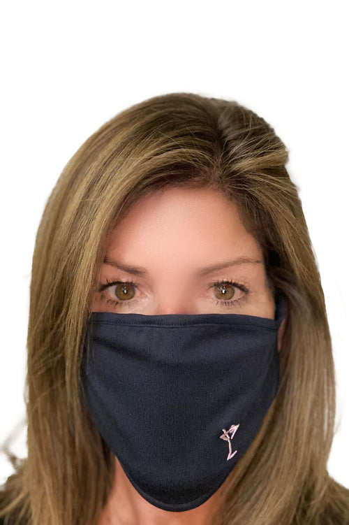 Navy Print Golftini Face Mask