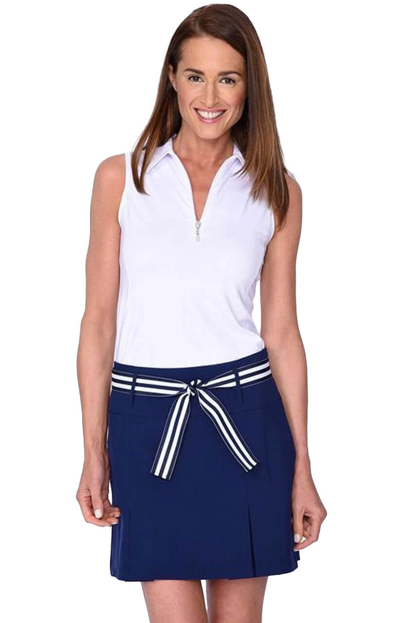 Navy Pleat Performance Stretch Skort | Eagle