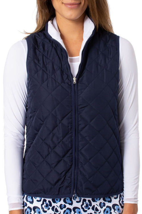 Navy & White Reversible Wind Vest