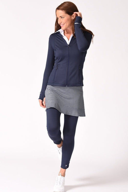 Navy Range Time Spandex Legging