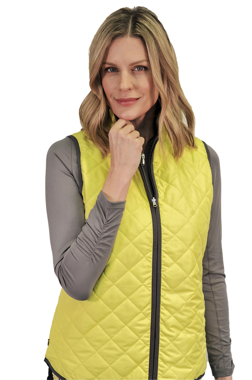 Designer Yellow & Grey Reversible Wind Vest