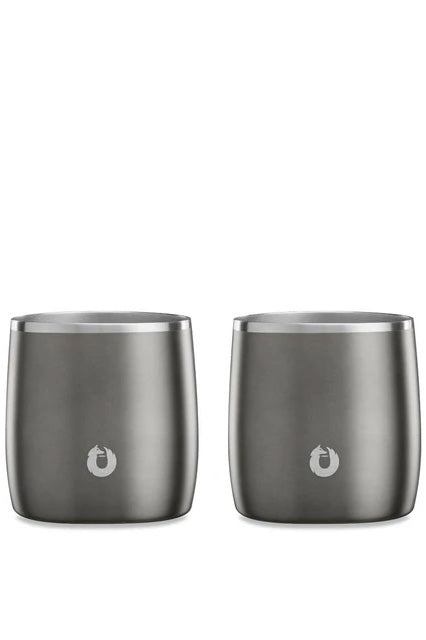 SNOWFOX Stainless Steel Rocks Glass (Set of 2)