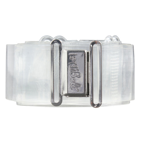 isABelt WIDE CLEAR BELT MAGNETIC CLASP