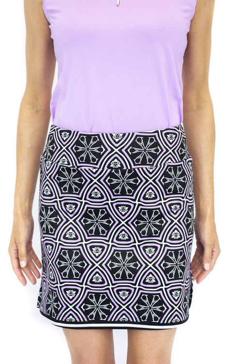 Pull-On Stretch Skort | Sangria
