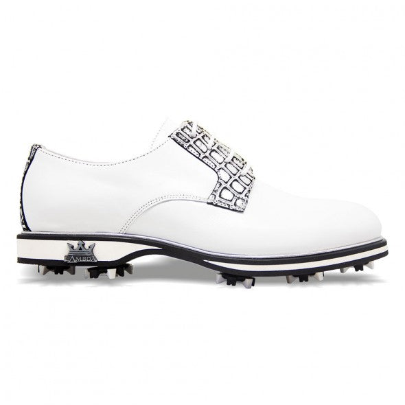 Lambda Golf Shoe - Garda White/Silver