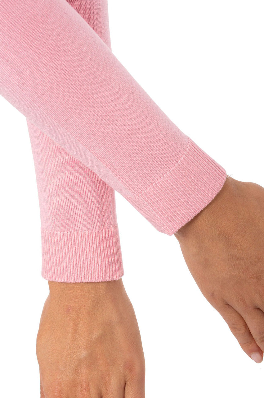 Light Pink Long Sleeve V-Neck Sweater