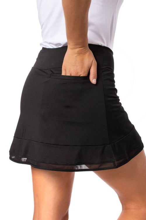 Black Pull-On Ruffle Stretch Skort | Top Golf