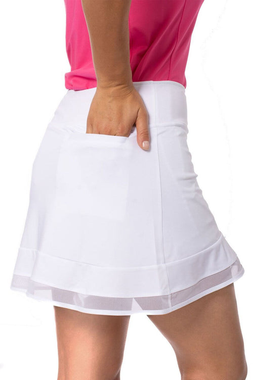White Pull-On Ruffle Stretch Skort | Top Golf