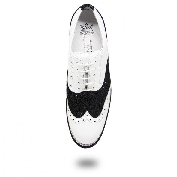 Lambda Golf Shoe - Venezia White/Black Ray