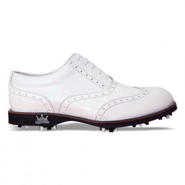 Lambda Golf Shoe - Venezia White Croco