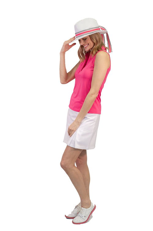 White Pleat Performance Stretch Skort | Blind Date