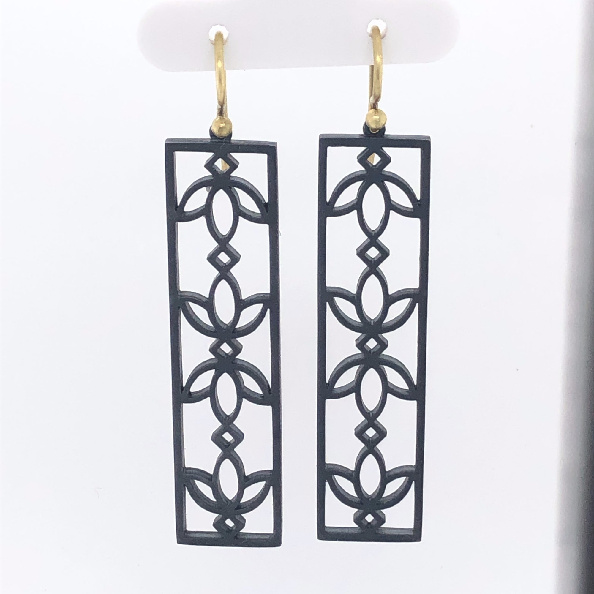 Sterling Silver & 18K Flower Panel Earrings