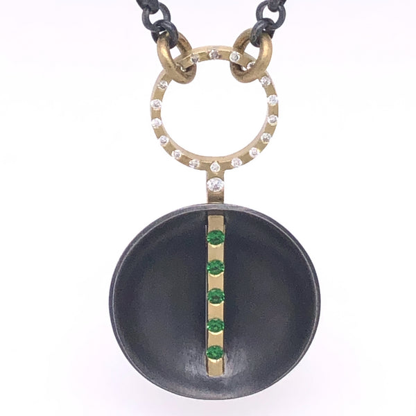 Tsavorite Disc Necklace