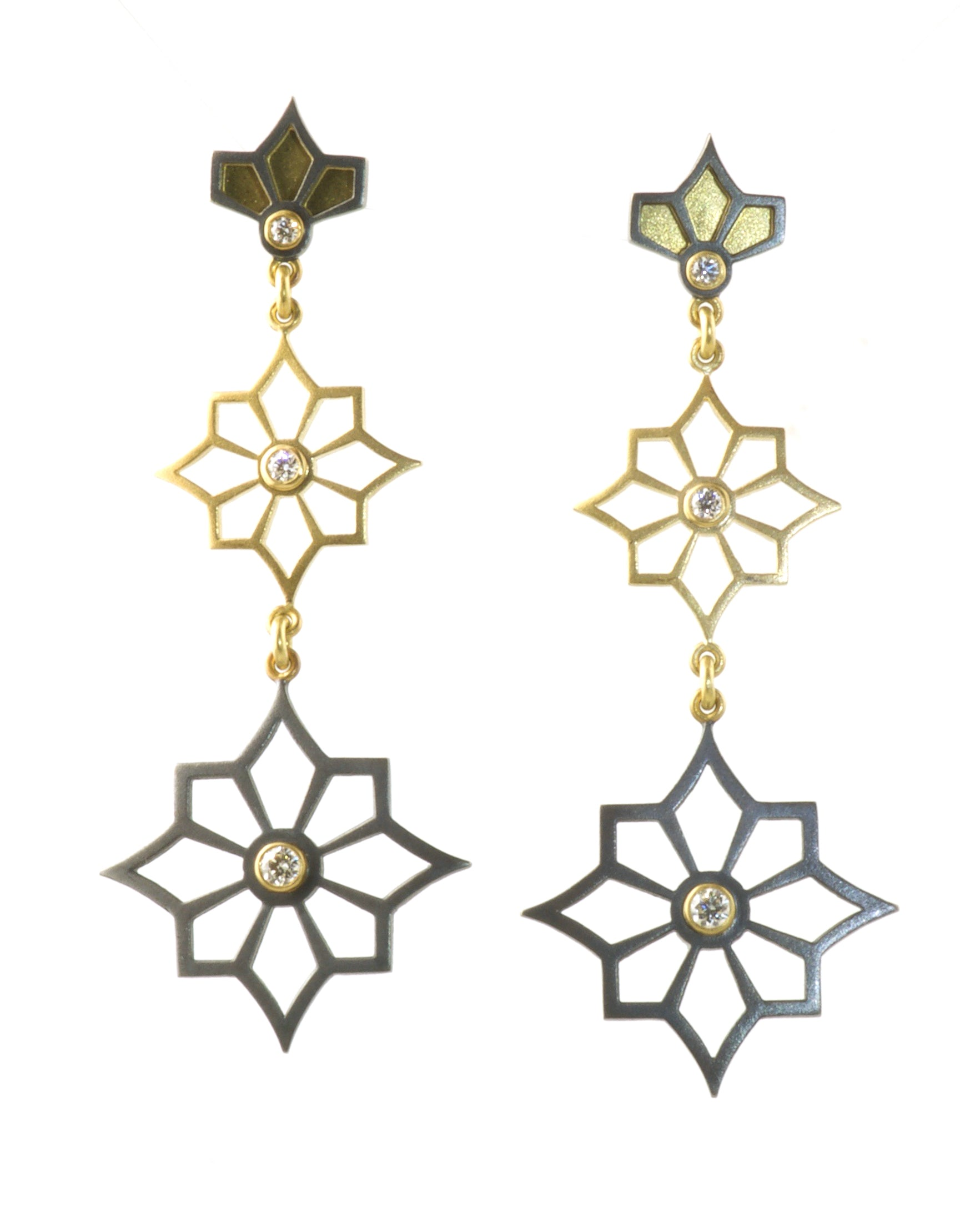 3 Star Earrings