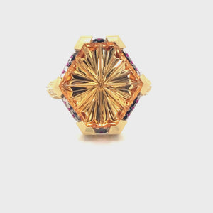 Hexagon Citrene Ring