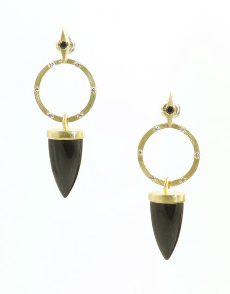 Onyx Point Earrings