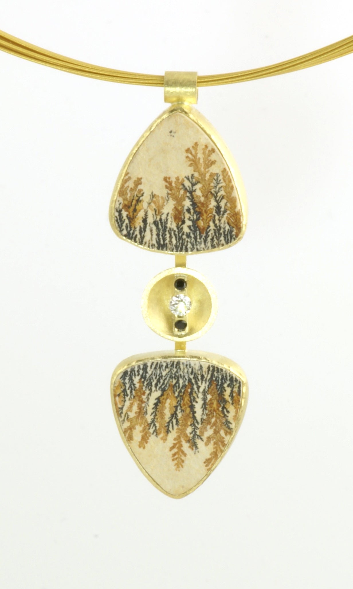 Dendritic Limestone Reflection pendent