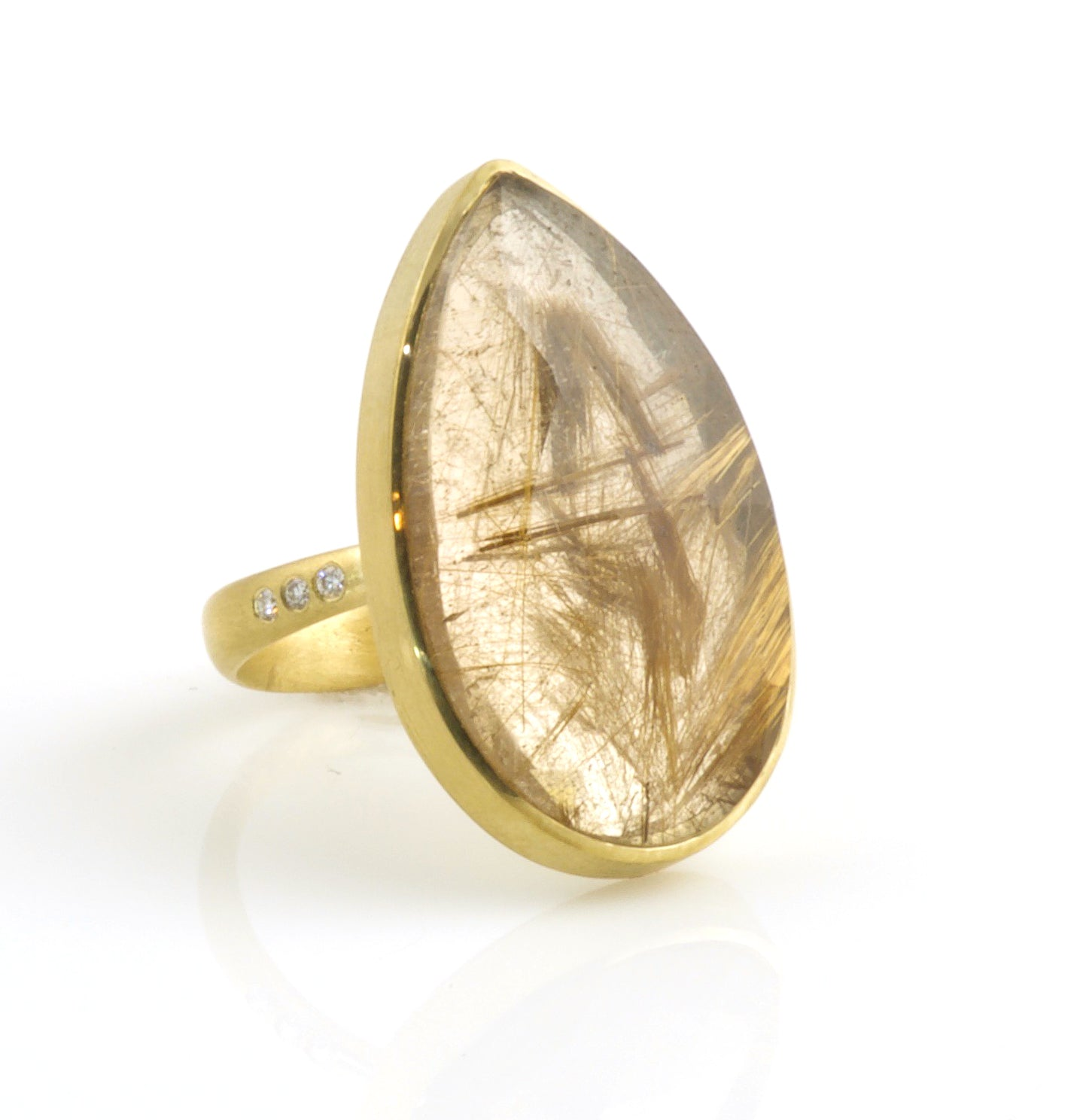 Faceted Rutilated Quartz ring