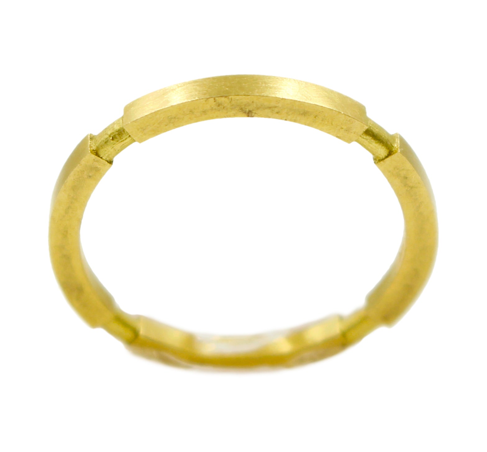18k Square stack ring