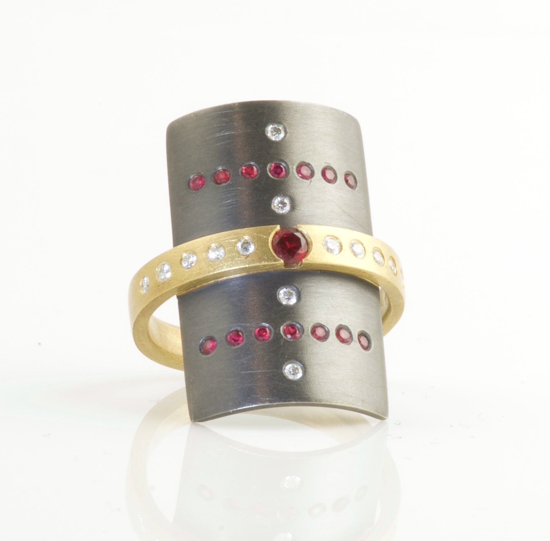 18K & Sterling silver Ruby ring