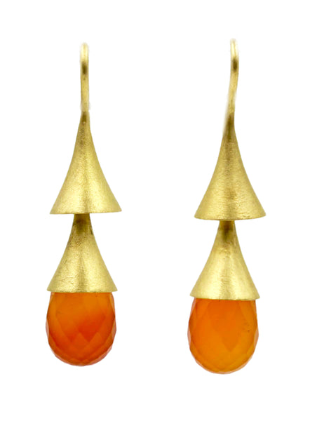 Double cone Carnelian earrings