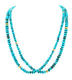 Kingman Turquoise & 18K Long Necklace