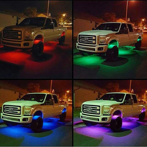 OLB RGB LED Rock lights 8 pod kit