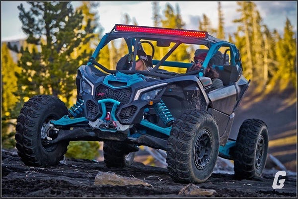 COMPLETE WITH RGB BACKLIGHTING 40 inch curved  light bar WITH mounts Can-Am Maverick X3 2017-2019
