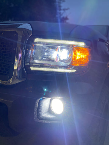 2015-2020 Colorado Canyon High,  Low, and fog beam LED Headlights - OffroadLEDbars