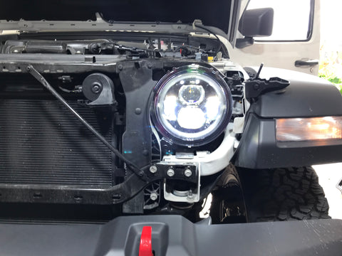 TRUE 9 inch DRL Halo LED HEADLIGHTS FOR JEEP WRANGLER JL 2018 2019 - OffroadLEDbars