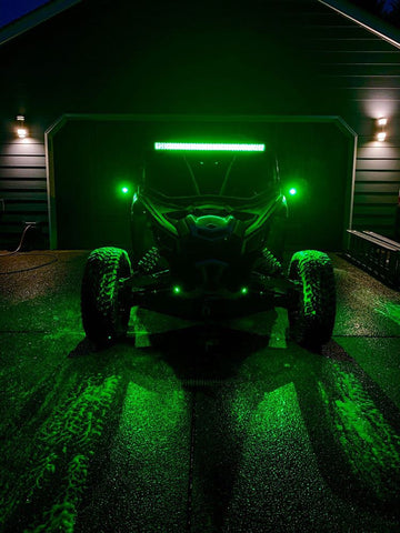 COMPLETE WITH RGB BACKLIGHTING 40 inch curved  light bar WITH mounts Can-Am Maverick X3 2017-2019 - OffroadLEDbars