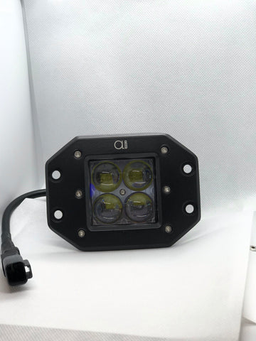 2-3 Inch Dual LED Cube Kit With Flush Mounts Reverse Lights - OffroadLEDbars