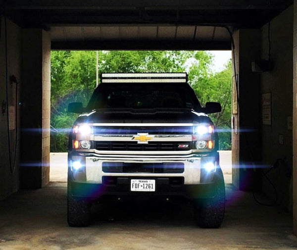 2014-2019 Chevrolet Silverado / GMC Sierra 1500 2500 LED Headlights (High, Low, Fog) - OffroadLEDbars